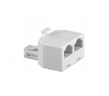TEL ADAP RJ11/6P4C WHITE