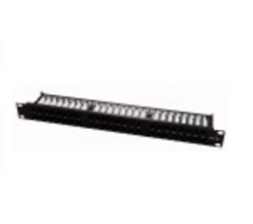 PATCH PANEL 24 POSTI RJ45 NERO