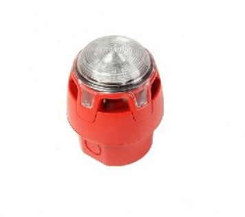 SIRENA/LAMP. CONV. ROSSO LED IP65